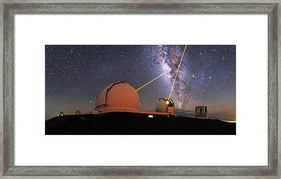 Milky Way Over Mauna Kea Observatories Framed Print by Babak Tafreshi