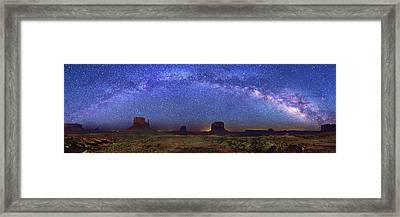 Milky Way Over Monument Valley Framed Print by Walter Pacholka, Astropics