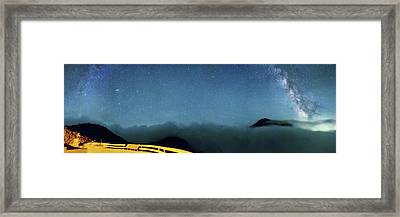 Milky Way Over Mount St Helens Framed Print by Walter Pacholka, Astropics