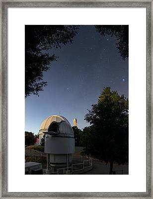 Milky Way Over Mount Wilson Observatory Framed Print by Babak Tafreshi
