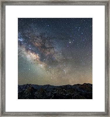 Milky Way Over Mountains Framed Print