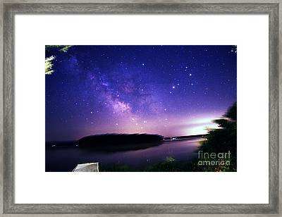 Milky Way Over Rice Lake, Canada Framed Print
