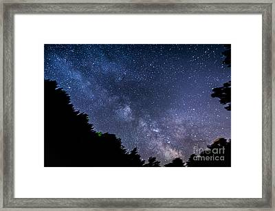 Milky Way Over Silver Springs Campground Framed Print