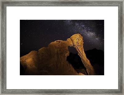 Framed Print featuring the photograph Milky Way Over The Elephant 3 by James Sage