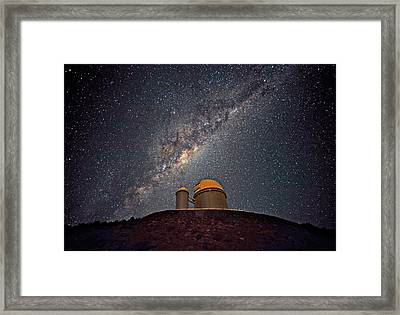 Milky Way Over The Eso Telescope Framed Print by Eso/s. Brunier