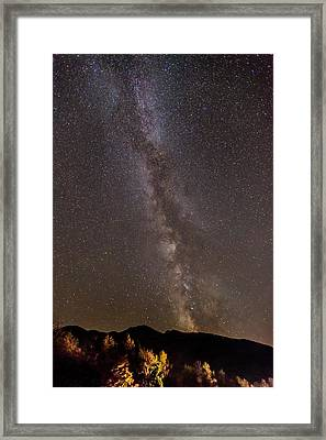 Milky Way Over The Presidentials Framed Print by Tim Sullivan