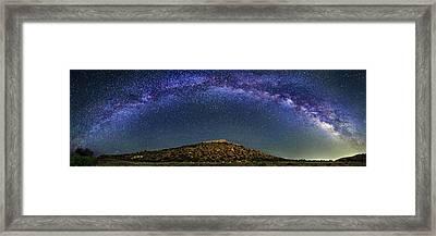 Milky Way Over Tuzigoot Ruins Framed Print by Walter Pacholka, Astropics