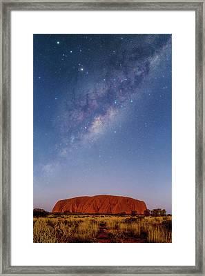 Milky Way Over Uluru Framed Print by Babak Tafreshi