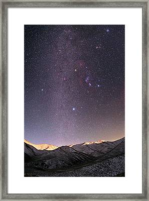Milky Way Over Zagros Mountains Framed Print