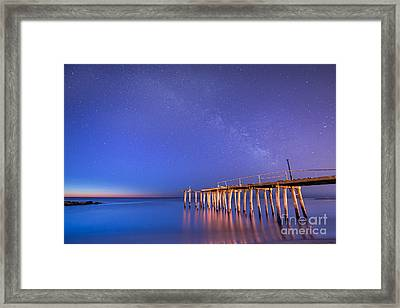 Milky Way Sunrise Framed Print