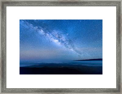 Milky Way Suspended Above Mauna Loa 1 Framed Print