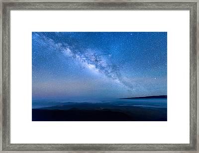 Milky Way Suspended Above Mauna Loa 1 Framed Print