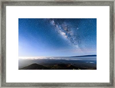 Milky Way Suspended Above Mauna Loa 2 Framed Print
