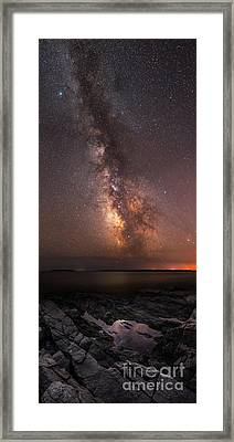 Milky Way Tide Pool Framed Print by Michael Ver Sprill