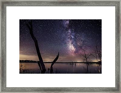 Milky Way Tree Framed Print by Aaron J Groen
