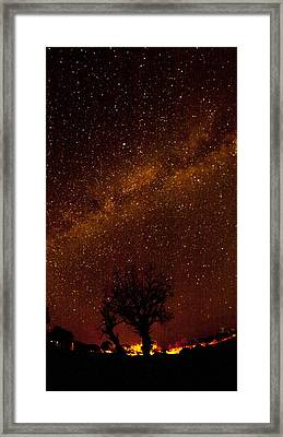 Milky Way Tree Framed Print