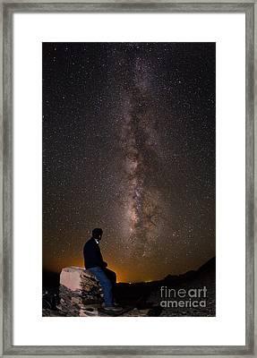 Milky Way Viewed From Ahaggar Mountains Framed Print by Babak Tafreshi