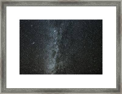 Milky Way With Gemind Meteor Framed Print by Darryl Luscombe