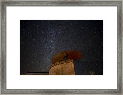 Milkyway And Bison Framed Print by Melany Sarafis