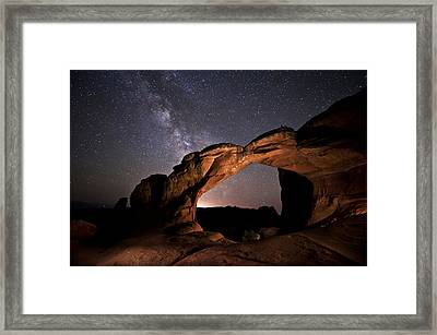 Milkyway Over Broken Arch Framed Print