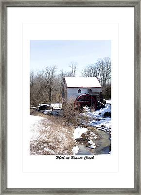 Mill At Beaver Creek Framed Print by Terry Spencer