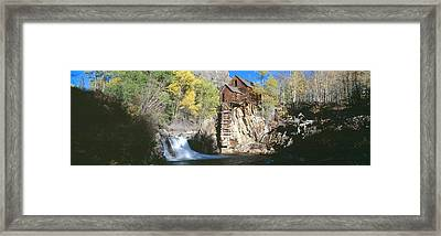 Mill At Crystal River Valley, Autumn Framed Print by Panoramic Images