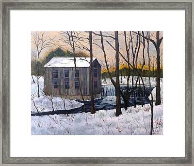 Mill At Walters Falls Framed Print
