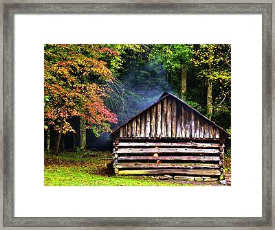Mill Cabin Of Blacksmith  Framed Print by Nian Chen