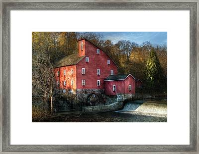 Mill - Clinton Nj - The Old Mill Framed Print by Mike Savad