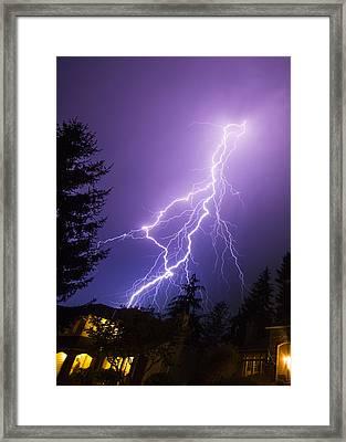 Mill Creek Lightning Framed Print by Ryan McGinnis