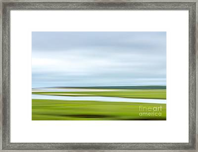 Mill Creek Marsh 1 Framed Print by Susan Cole Kelly Impressions