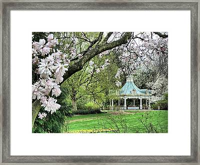 Mill Creek Park In Spring Framed Print by Monnie Ryan