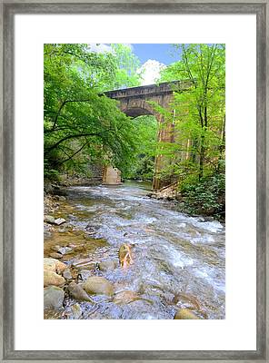 Mill Creek Viaduct Framed Print by Bob Jackson