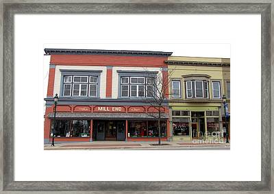 Mill End Store In Clare Michigan Framed Print by Terri Gostola