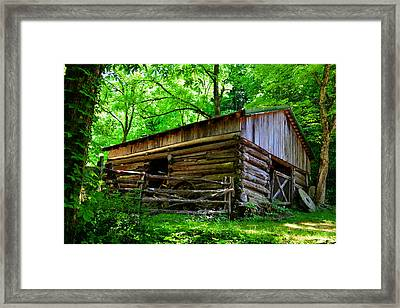 Mill House Barn Framed Print by David Lee Thompson