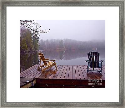 Mill Lake Mist Framed Print