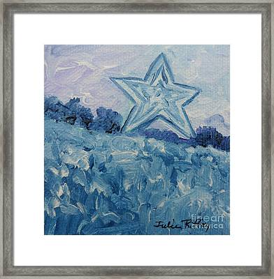 Mill Mountain Star Framed Print
