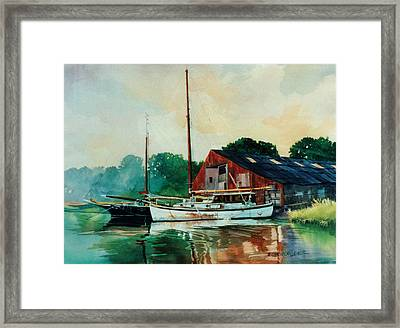 Mill Neck Ladies In Waiting Framed Print