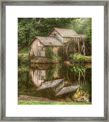 Mill On The Blue Ridge  Framed Print by Darren Fisher