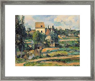 Mill On The Couleuvre At Pontoise Framed Print by Paul Cezanne