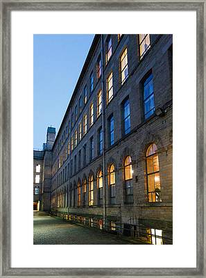 Framed Print featuring the photograph Mill Perspective by Paul Indigo