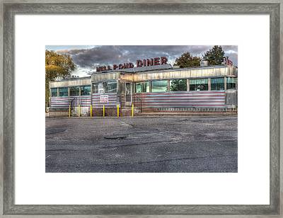 Mill Pond Diner Framed Print by Andrew Pacheco