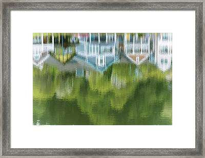 Mill Pond Reflects Extravagant Colour Framed Print