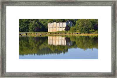 Mill Pond Ruins Framed Print by Jeri lyn Chevalier