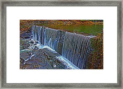 Mill Pond Spillover  Framed Print