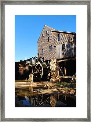 Framed Print featuring the photograph Mill Reflection by Bob Sample