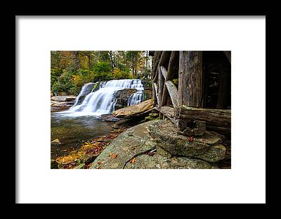 Mill Shoals Falls Framed Prints