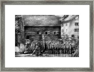 Mill - Sleepy Hollow Ny - By The Mill  Framed Print by Mike Savad