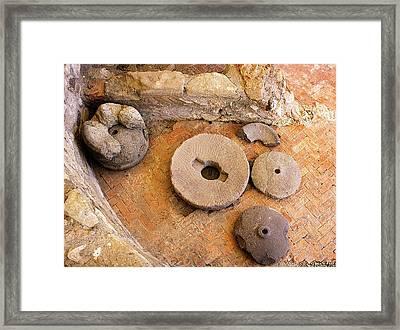 Mill Stone Framed Print