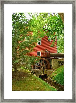 Framed Print featuring the photograph Grist Mill Water Wheel by Bob Sample